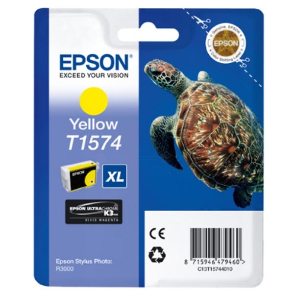 Original Epson C13T15744010 / T1574 Tintenpatrone gelb