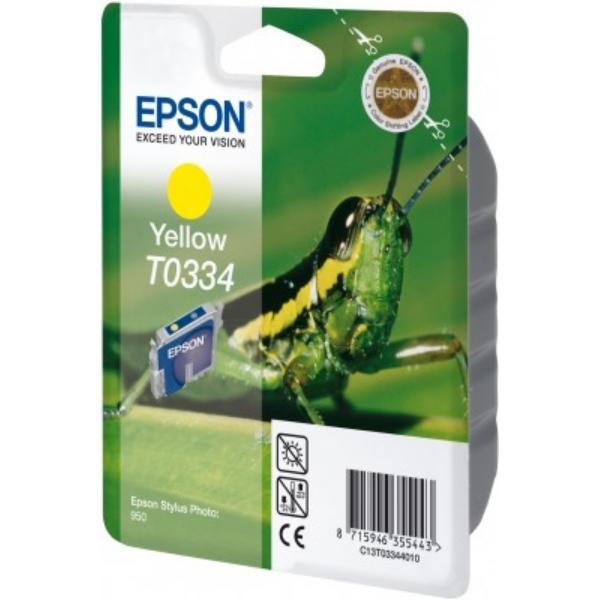Original Epson C13T03344010 / T0334 Tintenpatrone gelb