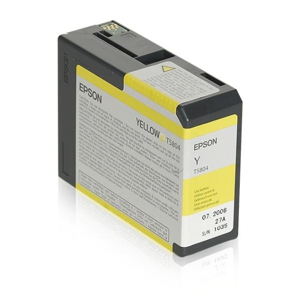 Original Epson C13T580400 / T5804 Tintenpatrone gelb