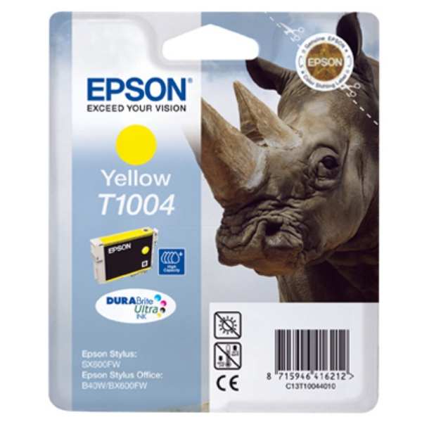 Original Epson C13T10044010 / T1004 Tintenpatrone gelb