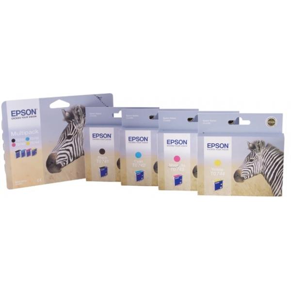 Original Epson C13T07444010 / T0744 Tintenpatrone gelb