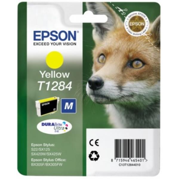 Original Epson C13T12844011 / T1284 Tintenpatrone gelb