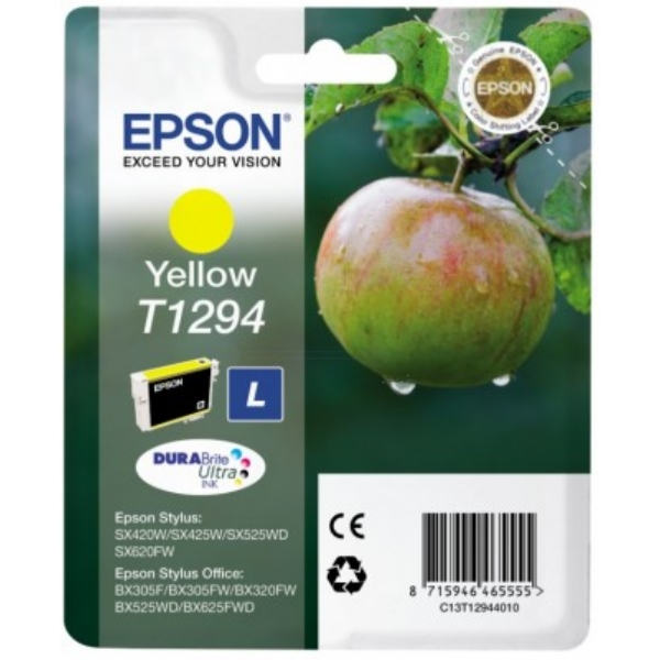 Original Epson C13T12944010 / T1294 Ink cartridge yellow