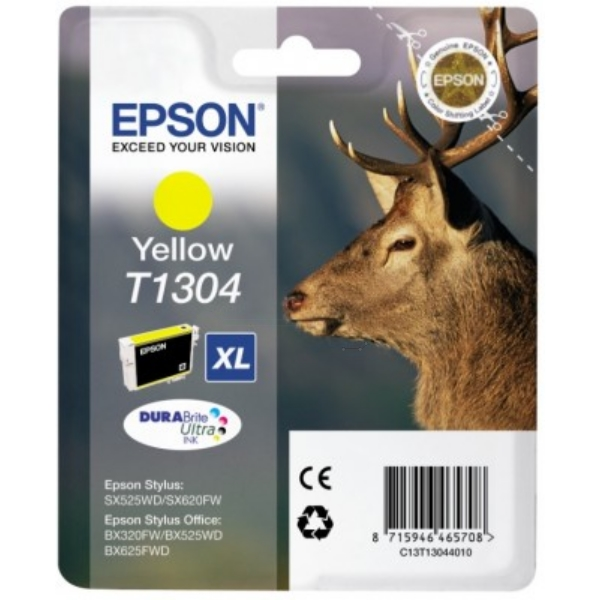 Original Epson C13T13044010 / T1304 Ink cartridge yellow