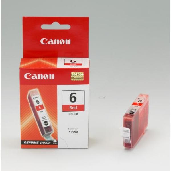 Original Canon 8891A002 / BCI6R Tintenpatrone rot