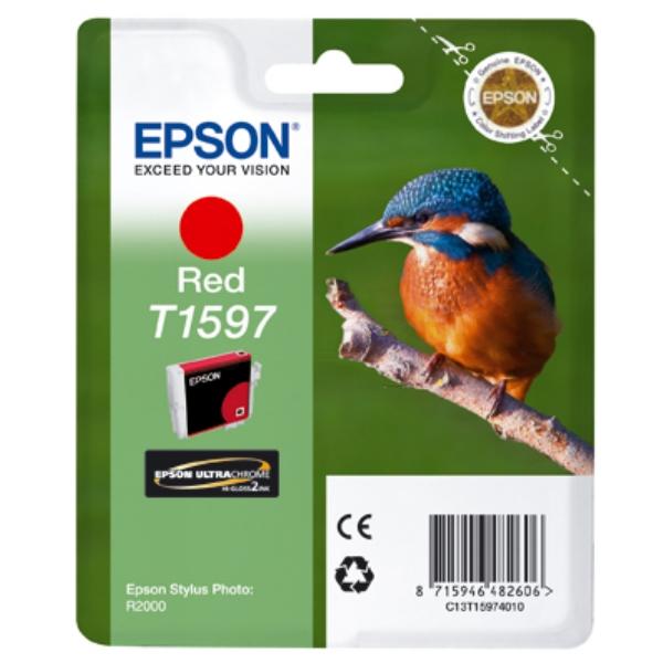 Original Epson C13T15974010 / T1597 Tintenpatrone rot