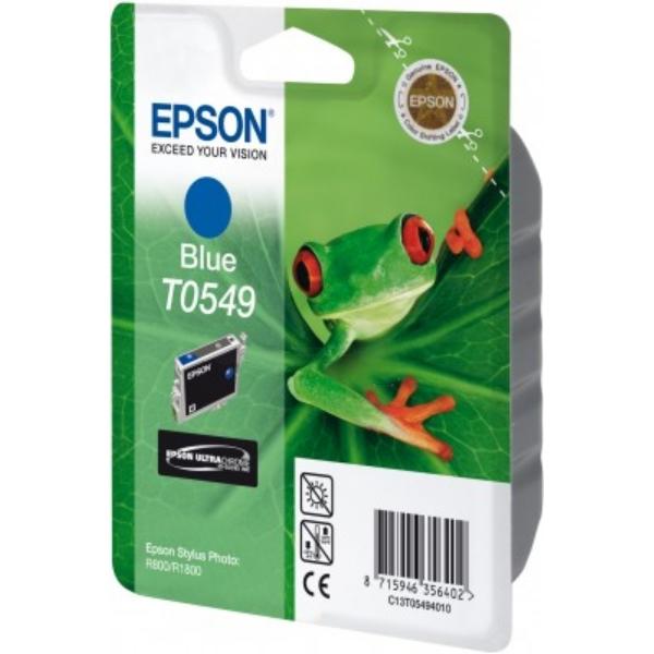 Original Epson C13T05494010 / T0549 Tintenpatrone blau