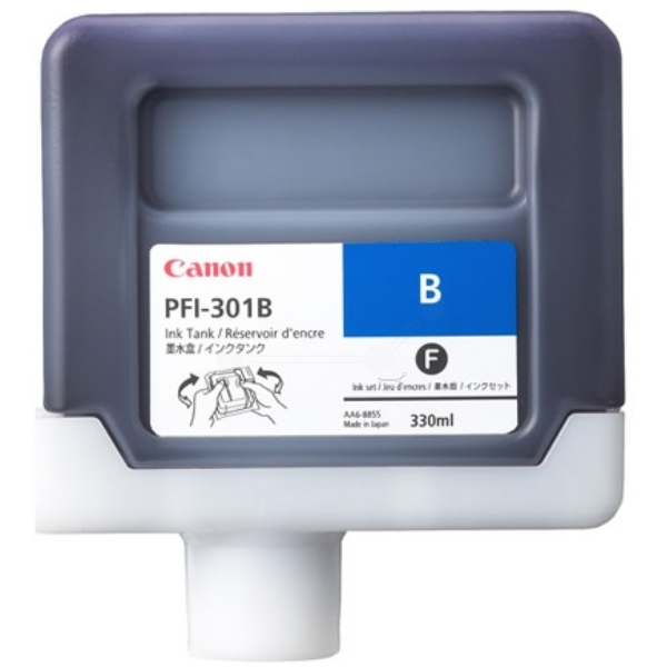 Original Canon 1494B001 / PFI301B Tintenpatrone blau