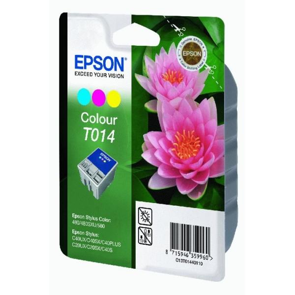 Original Epson C13T01440110 / T014 Tintenpatrone color