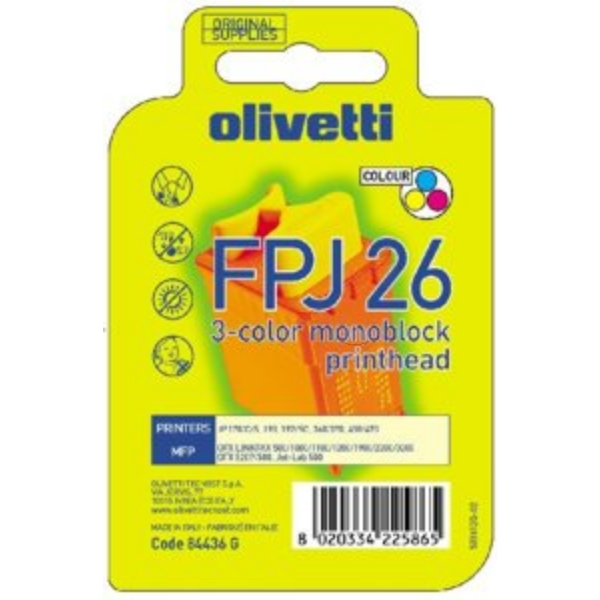 Original Olivetti 84436 / FPJ26 Ink cartridge color