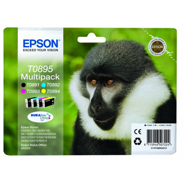 Original Epson C13T08954011 / T0895 Ink cartridge multi pack