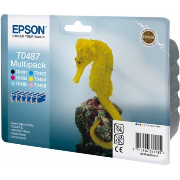 Original Epson C13T04874010 / T0487 Tintenpatrone MultiPack