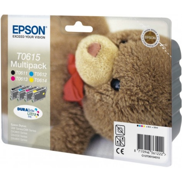Original Epson C13T06154010 / T0615 Ink cartridge multi pack