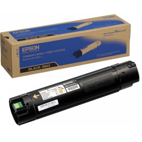 Original Epson C13S050663 / 0663 Toner schwarz