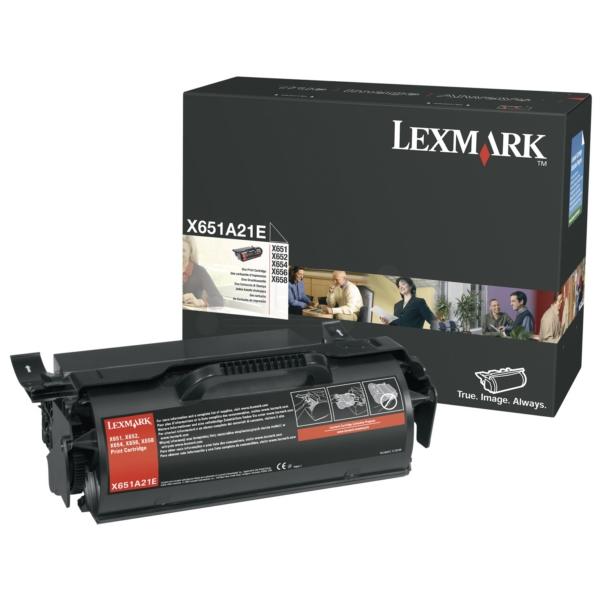 Original Lexmark X651A21E Toner schwarz