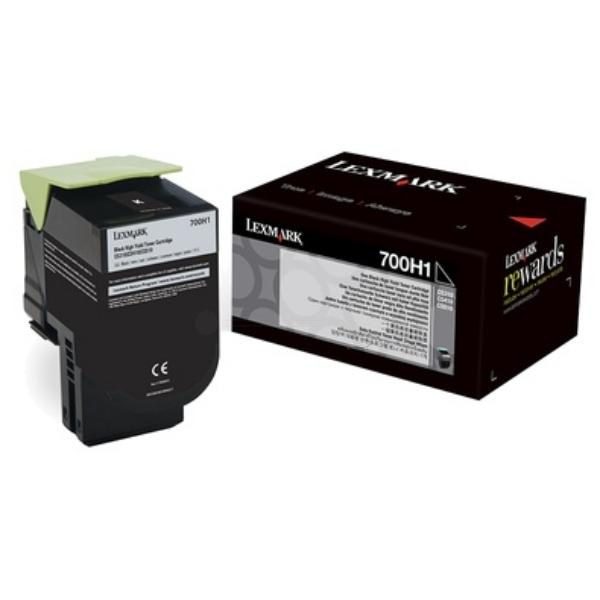 Original Lexmark 70C0H10 / 700H1 Toner schwarz