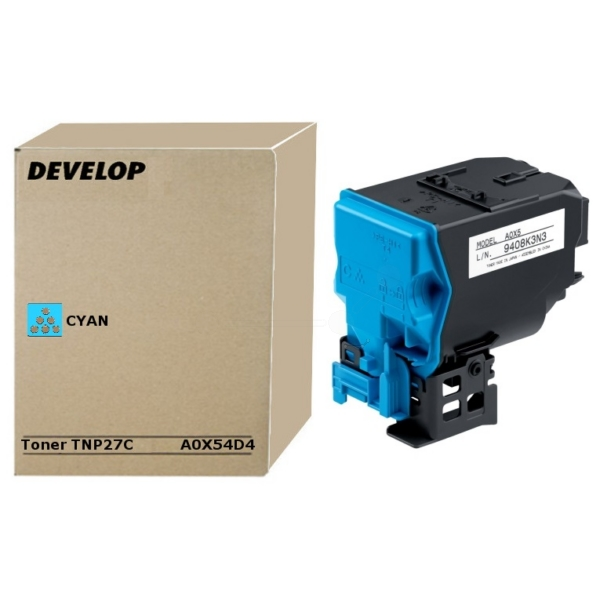 Original Develop A0X54D4 / TNP27C Toner cyan