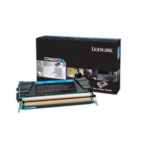 Original Lexmark C746A2CG Toner cyan