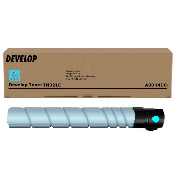 Original Develop A33K4D0 / TN321C Toner cyan
