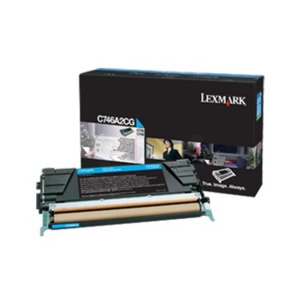 Original Lexmark C746A3CG Toner cyan
