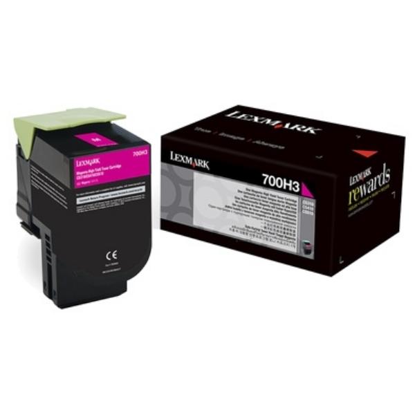 Original Lexmark 70C0H30 / 700H3 Toner magenta