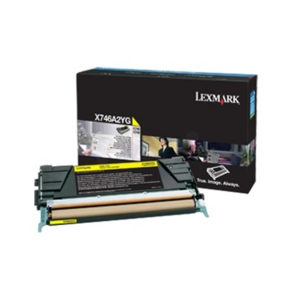 Original Lexmark X746A3YG Toner gelb