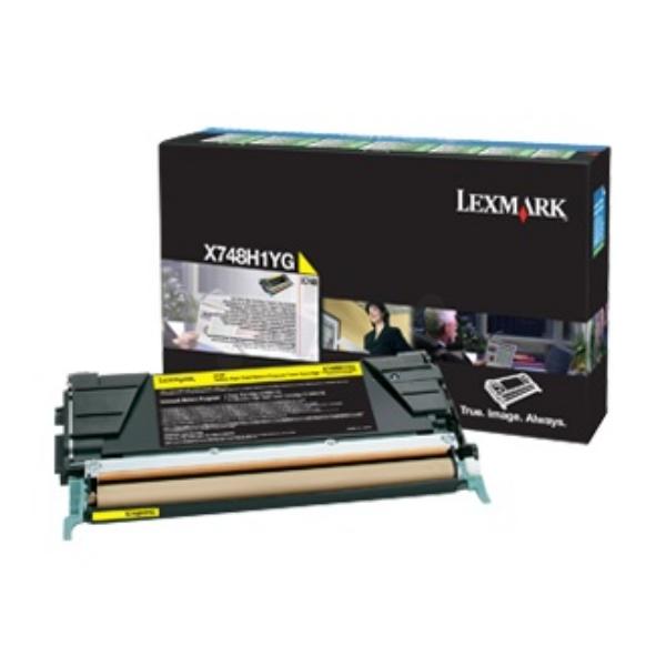 Original Lexmark X748H3YG Toner gelb