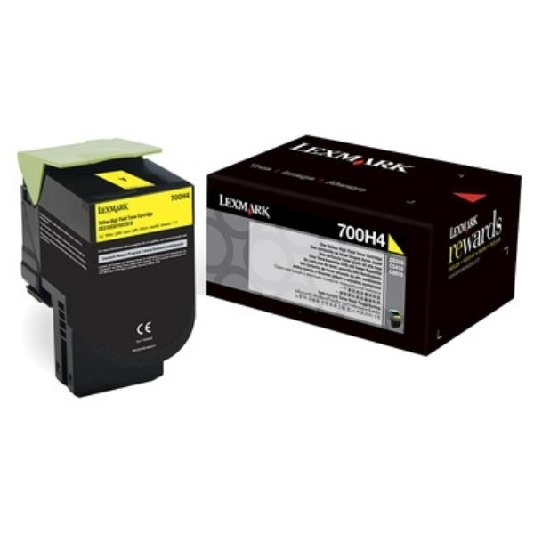 Original Lexmark 70C0H40 / 700H4 Toner gelb
