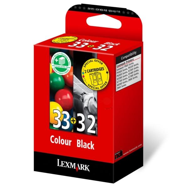 Original Lexmark 80D2951 / 32+33 Druckkopf Multipack