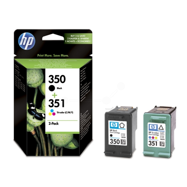 Original HP SD412EE / 350+351 Cartouche à tête d'impression multi pack