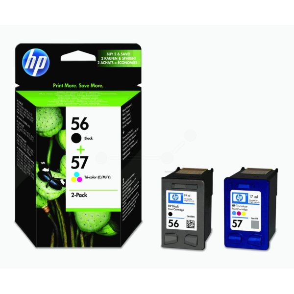 Original HP SA342AE / 56+57 Cartouche à tête d'impression multi pack