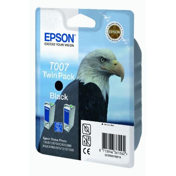 Original Epson C13T00740210B / T007 Tintenpatrone schwarz