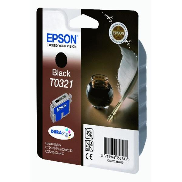 Original Epson C13T03214010 / T0321 Tintenpatrone schwarz