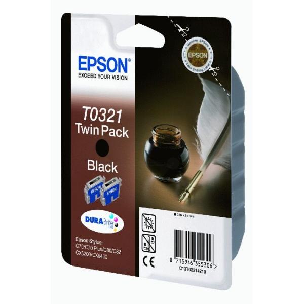 Original Epson C13T03214210 / T0321 Tintenpatrone schwarz