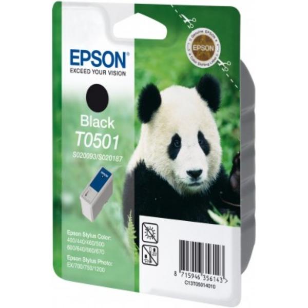 Original Epson C13T05014010 / T0501 Tintenpatrone schwarz