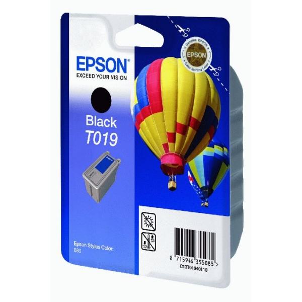 Original Epson C13T01940110 / T019 Cartouche d'encre noire