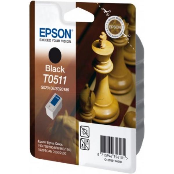 Original Epson C13T05114010 / T0511 Cartouche d'encre noire