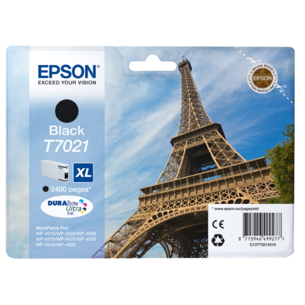 Oryginalny Epson C13T70214010 / T7021 Wklad atramentowy czarny