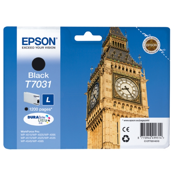 Originale Epson C13T70314010 / T7031 Cartuccia di inchiostro nero