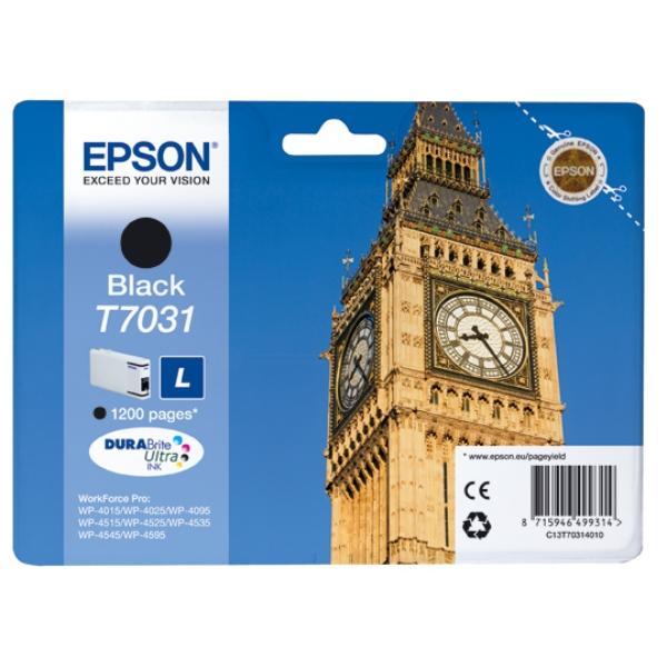 Original Epson C13T70314010 / T7031 Tintenpatrone schwarz