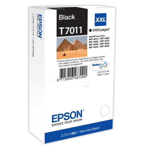 Original Epson C13T70114010 / T7011 Tintenpatrone schwarz