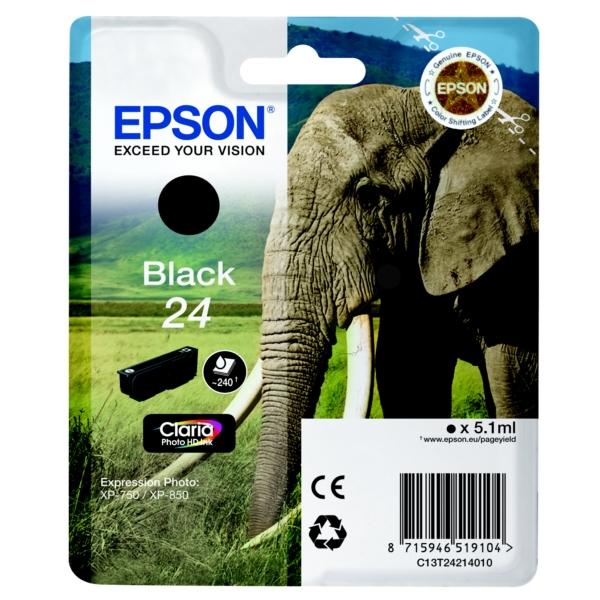 Original Epson C13T24214010 / 24 Tintenpatrone schwarz