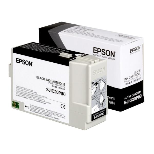 Original Epson C33S020490 / SJIC20P(K) Tintenpatrone schwarz