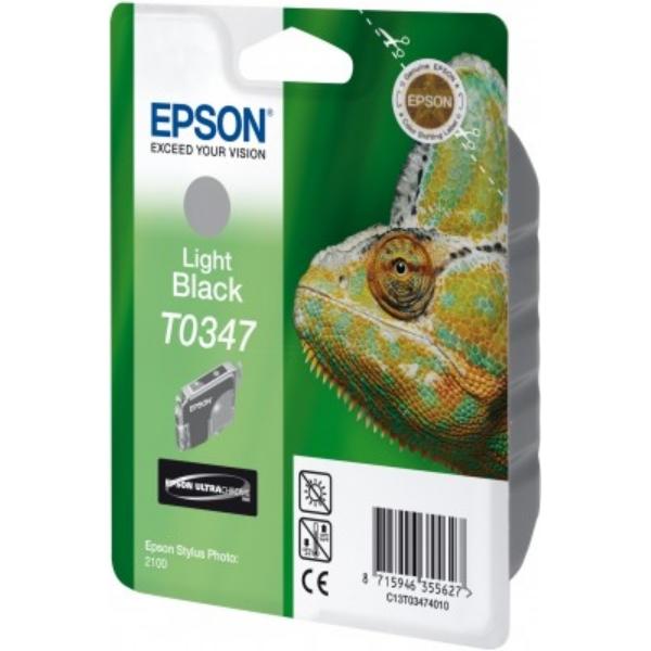 Original Epson C13T03474010 / T0347 Tintenpatrone schwarz hell