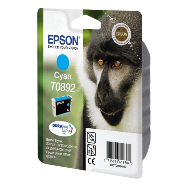 Original Epson C13T08924011 / T0892 Ink cartridge cyan