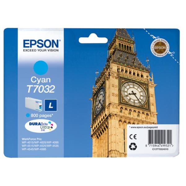 Original Epson C13T70324010 / T7032 Tintenpatrone cyan