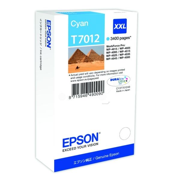 Original Epson C13T70124010 / T7012 Tintenpatrone cyan