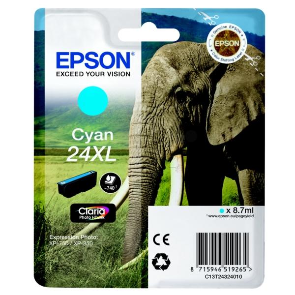 Original Epson C13T24324010 / 24XL Tintenpatrone cyan