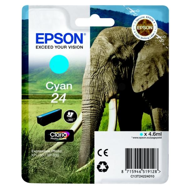 Original Epson C13T24224010 / 24 Tintenpatrone cyan