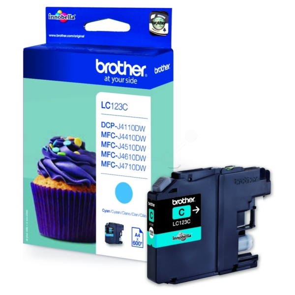 Original Brother LC123C Cartouche d'encre cyan